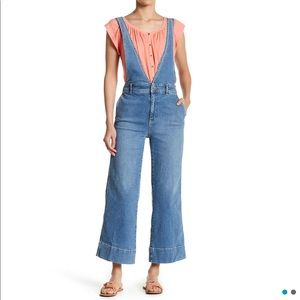 Free People Wide Leg A-Line Overall